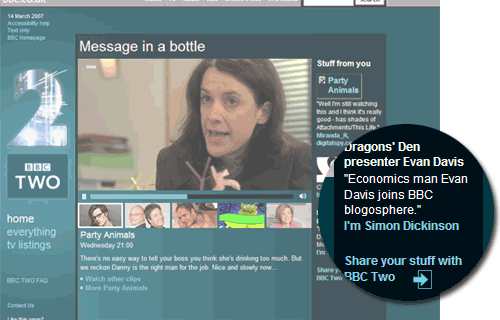 BBC Two homepage